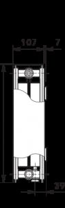Radiator-convector ULOW-E2 22/500/1600 - RAL9016