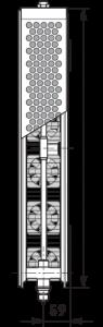 Radiator-convector ULOW-E2 22/500/1800 - RAL9016