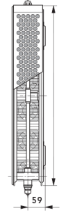 Radiator-convector ULOW-E2 22/500/2000 - RAL9016